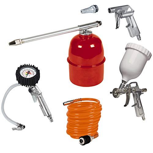 Einhell Kit de accesorios para compresor de aire, 5 unidades...