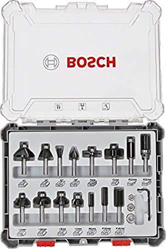 Bosch Professional 2607017472 Juego de 15 fresas para ranurar,...