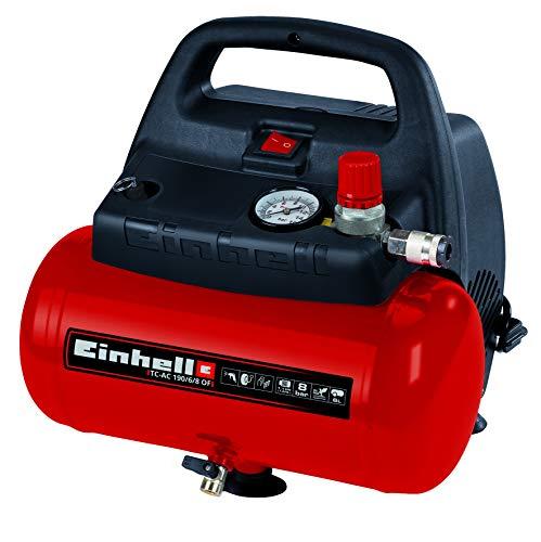 Einhell TH-AC 190/6 OF - Compresor de aire, 8 bar, depósito 6 l,...